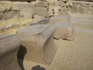 Carved Blocks Outside Valley Temple